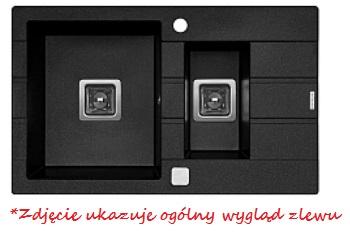 Zlewozmywak z ociekaczem Pyramis ARKADIA (78x48) 1 1/2B 1D
