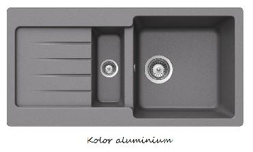 Zlewozmywak z ociekaczem Teka Kea 60 B-TG Metalic aluminium
