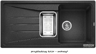 Zlewozmywak z ociekaczem Blanco SONA 6S Silgranit PuraDur II bez korka aut. z odsączarką