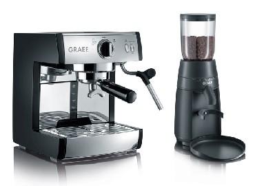 Ekspres ciśnieniowy do kawy GRAEF PIVALLA SET