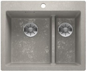 Zlewozmywak Blanco PLEON 6 Split Silgranit PuraDur Beton InFino