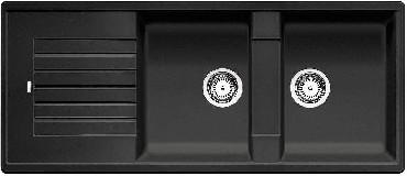 Zlewozmywak z ociekaczem Blanco ZIA 8S Silgranit PuraDur 2 bez korka automatycznego