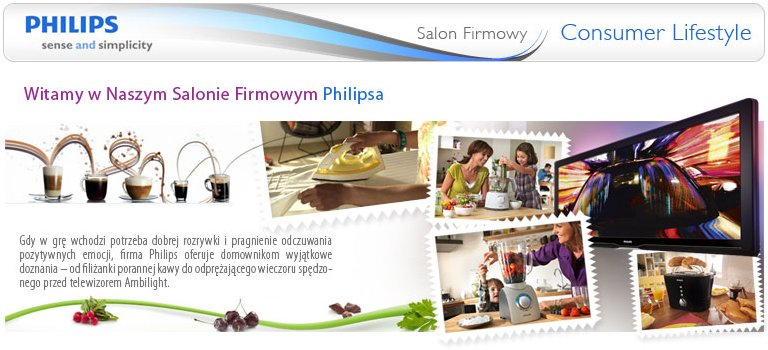 Salon firmowy Philips - sense and simplicity