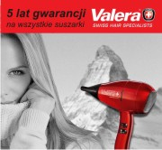 5 lat gwarancji na suszarki VALERA