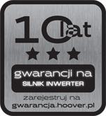 10 LAT GWARANCJI NA SILNIK INVERTER HOOVER