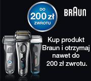Kupując golarkę BRAUN zyskujesz do 200zł zwrotu